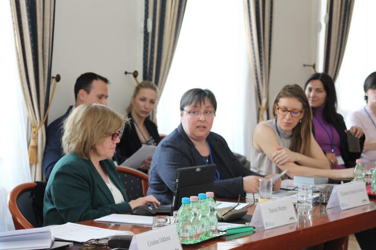 Erzsébet Szalayné Sándor opens the Equinet project meeting on combating violence against women