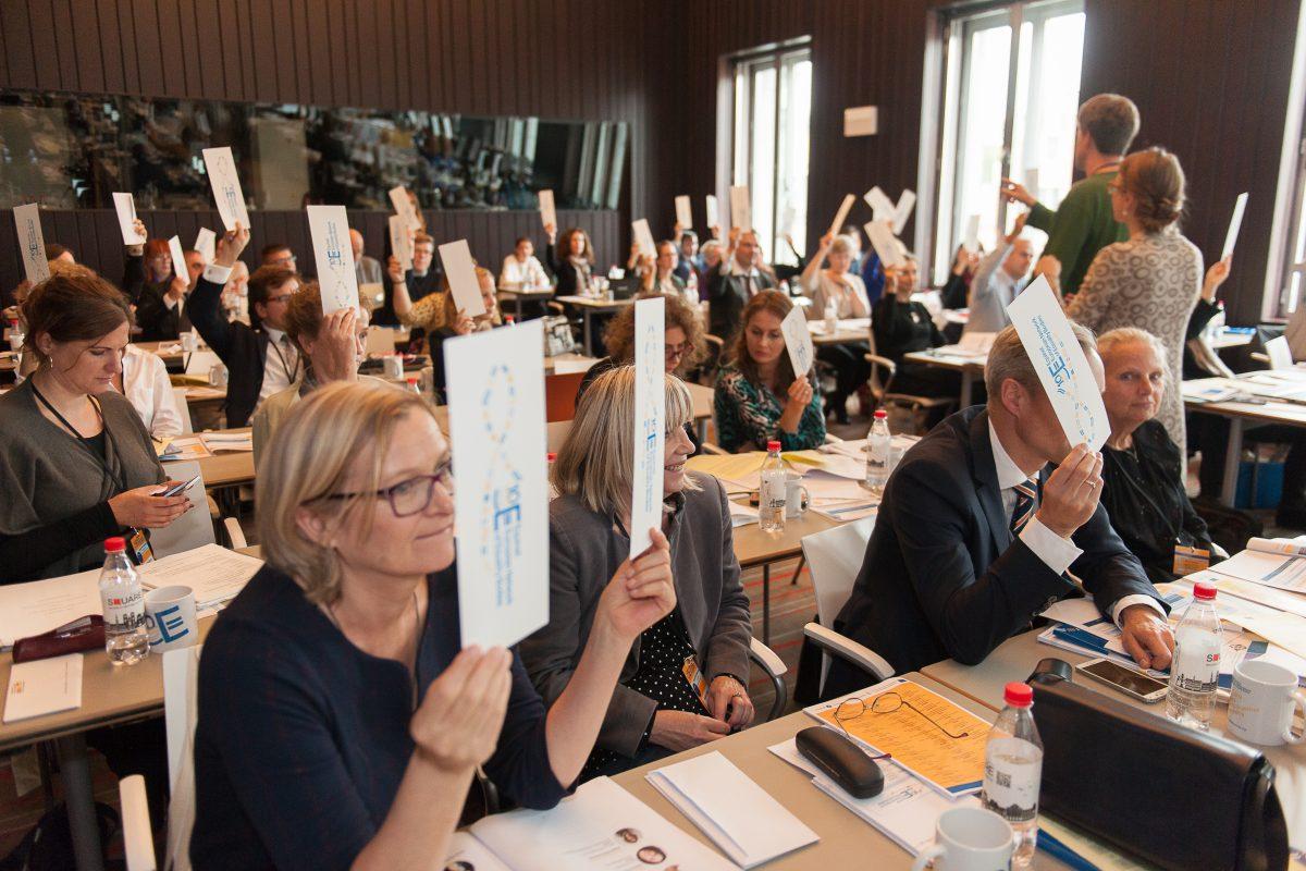 Members voting at 2017 AGM