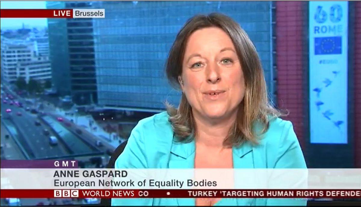 Anne Gaspard, speaking on the BBC's GMT